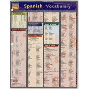 QuickStudy Bar Chart: Spanish Vocabulary
