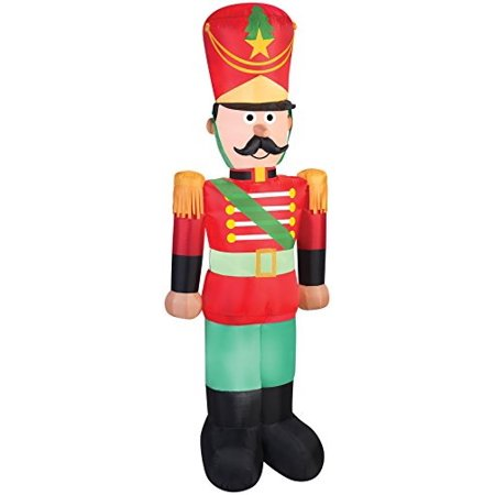 uhc airblown inflatable toy soldier holiday theme party christmas decoration - Christmas Theme Party Decorations