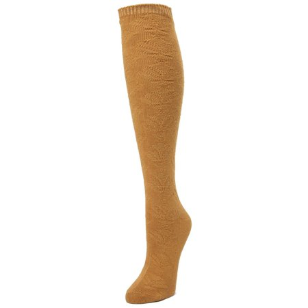 Trendy Socks (MeMoi Candid Subtle Knee High - Elegant and Trendy Socks for Women by MeMoi One Size 9-11 / Chai Tea MF7)