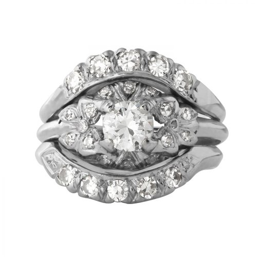 Ladies 1.23 Carat Diamond 900 Platinum Ring by Generic
