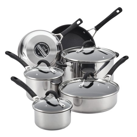 Circulon Innovatum 10pc Stainless Steel Nonstick Cookware Set