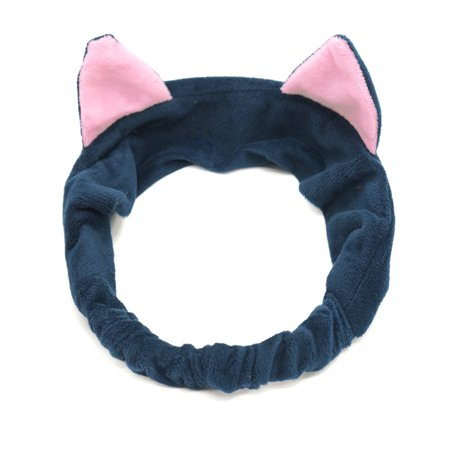 Halloween Makeup Facial Hair (Jeobest Facial Headband Cute - Headband for Women Makeup - Head Band Women Hair for Washing Face - Women Girl Elastic Cute Cat Ears Headband Makeup Facial Cleansing Spa Headband)