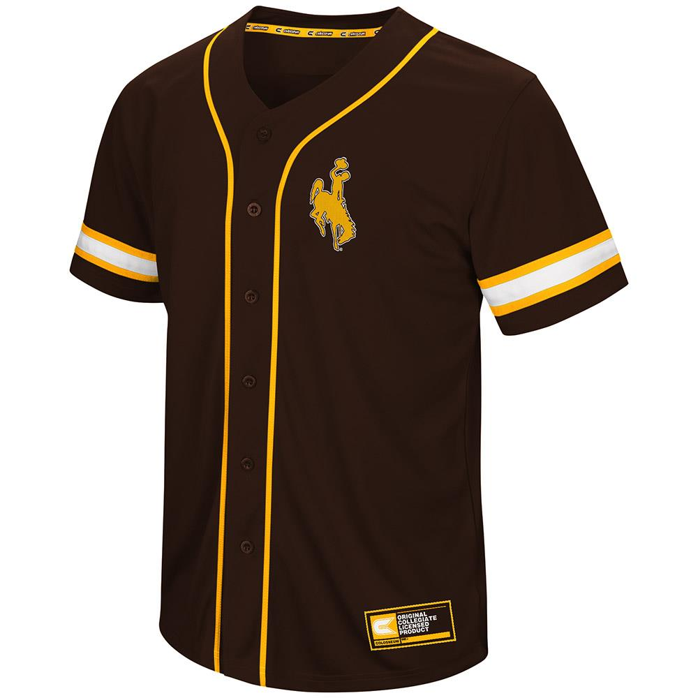 Mens Wyoming Cowboys Baseball Jersey - S