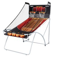 ESPN EZ Fold 2-Player Basketball Game, Accessories Included, Black/Red