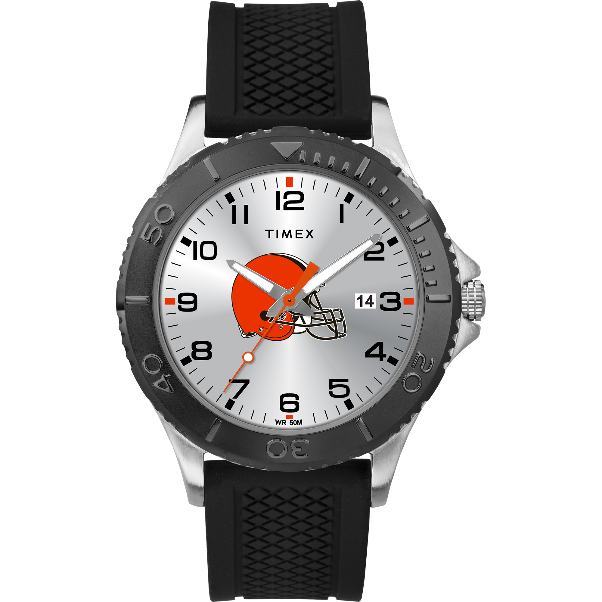 Timex - NFL Tribute Collection Gamer Black Men's Watch, Cleveland Browns