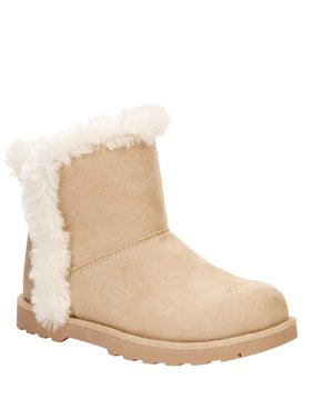 Calistoga Vegan Suede Faux Fur Ankle Boots (Little Girls & Big Girls)