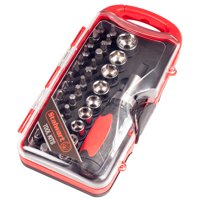 Stalwart Ratcheting Screwdriver with 38 Piece Bit and Socket Set, W550067