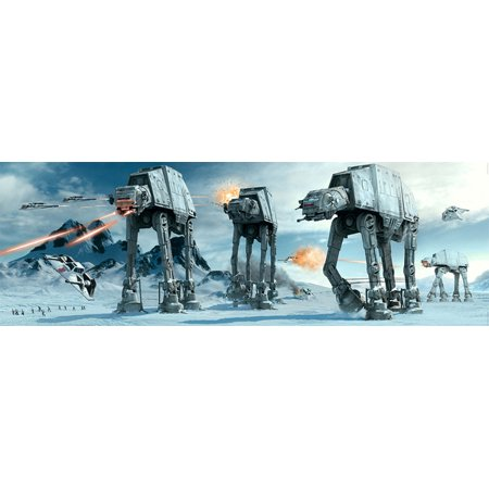 - Star Wars: Episode V - The Empire Strikes Back - Door Movie Poster / Print (The Battle Of Hoth - At-At Attack) (Size: 62