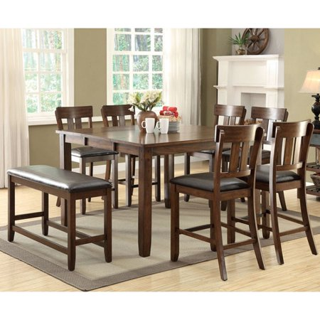 ... Designs Sidwell Counter Height Extendable Dining Table - Walmart.com