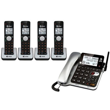 AT&T CL84402 DECT 6.0 Corded / Cordless Phone w/ 14 Minute Digital Answering System Corded Cordless Phone System