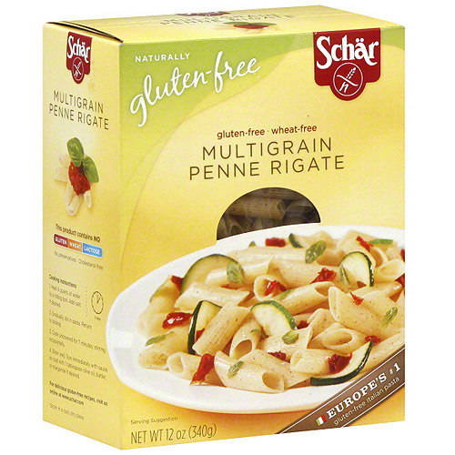 Schar Multigrain Penne Rigate Pasta, 12 oz (Pack of 10)