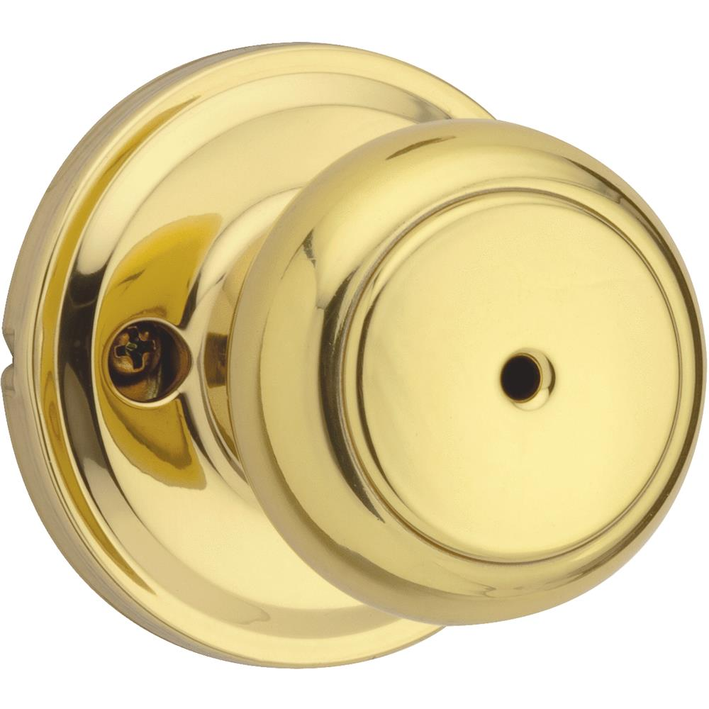 Weiser Lock Polished Brass Troy Privacy Knob GA331 T3 MS 6LR1