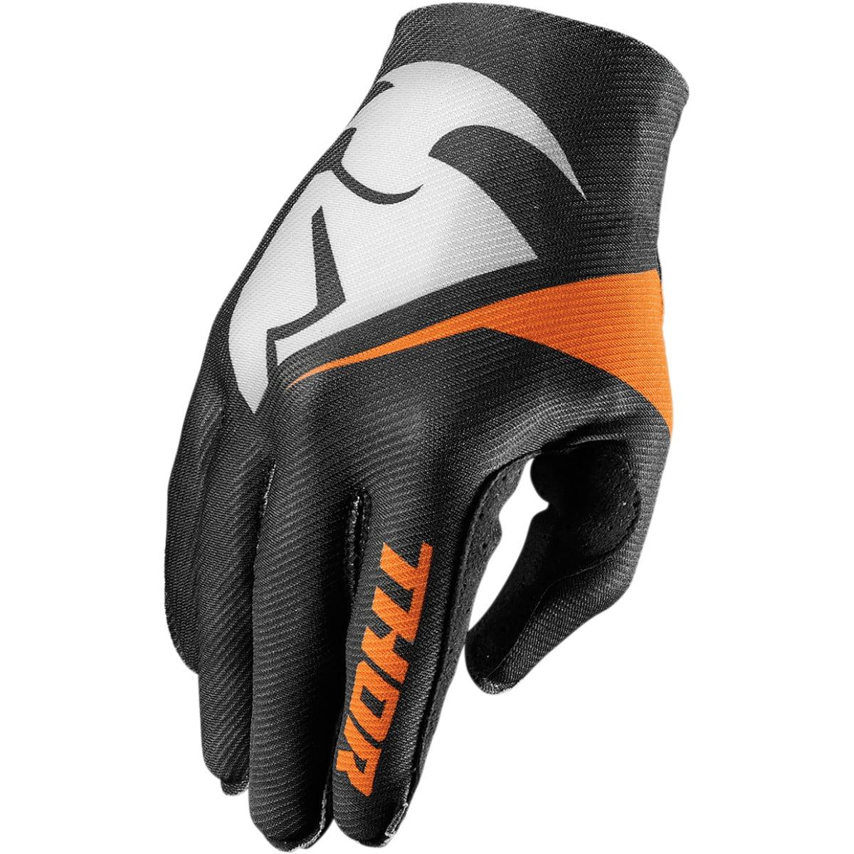 Thor Invert Gloves Short Cuff (Flection Black, X-Small)