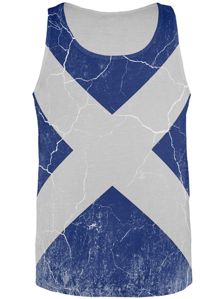 Vintage Scottish Flag Customised Birthday Greetings Card
