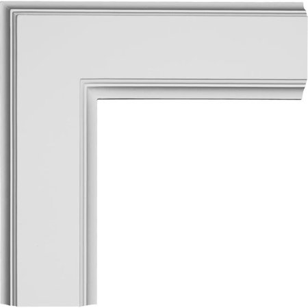 Ekena Millwork CC05ICN02X14X14TR 14 x 2 x 14 in. Inner Corner for 5 Traditional Coffered Ceiling System - image 1 of 1