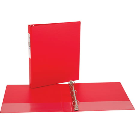- (4 Pack) Avery(R) Economy Binder with Round Ring 3310, Red, 1 inch