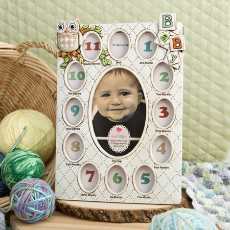 Fashion Craft Baby's First Year Collage Picture Frame (Halloween Photo Frame Craft)