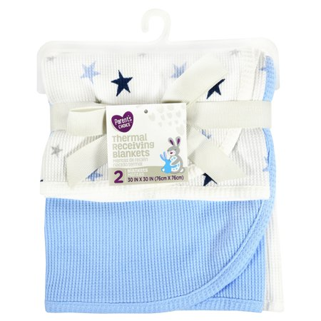 - Parent's Choice Thermal Receiving Blankets, Blue, 2 Pack