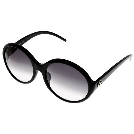 Giorgio Armani Sunglasses Womens GA378KS 807 Black Round Size: Lens/ Bridge/ Temple: 68-18