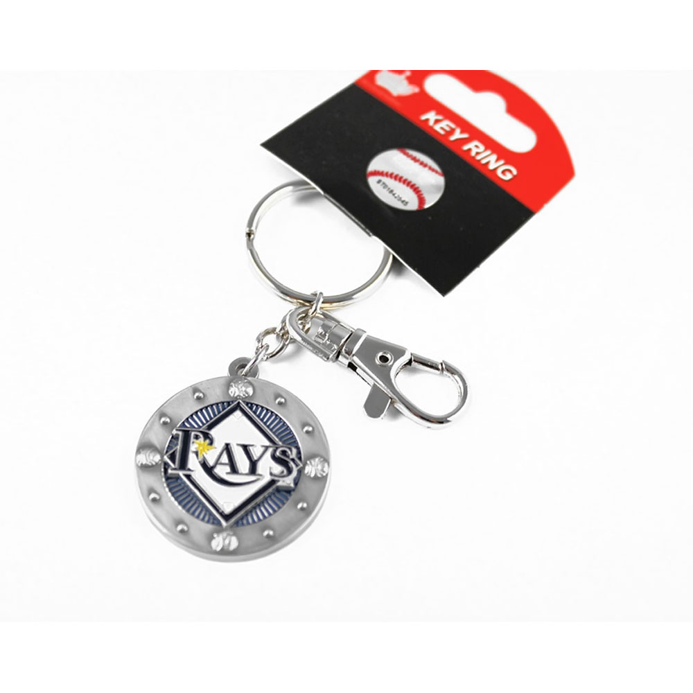 MLB Tampa Bay Rays Sports Team Logo Impact Metal Key Ring Keychain