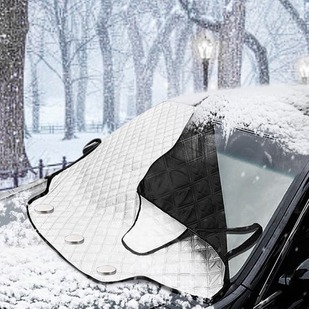 MATCC Car Windshield Snow Cover Magnetic Frost Shield Car Windscreen Cover Snow Ice Protection Snow Block SUV ORV Winter (Gsxr1000 Windshield Windscreen)