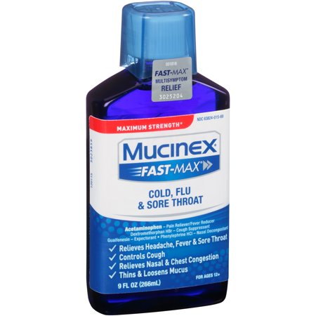 Mucinex ® Fast-Max ® Maximum Strength Cold Flu & Sore Throat 9 fl. oz. Bottle