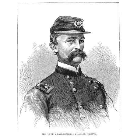 Charles Griffin  1825 1867  Nus Army General Wood Engraving American 1867 Rolled Canvas Art     24 X 36