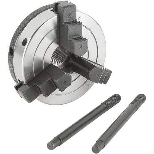 """Grizzly H8033 3"""" 3-Jaw Wood Chuck - 3/4"""" x 16 TPI"""