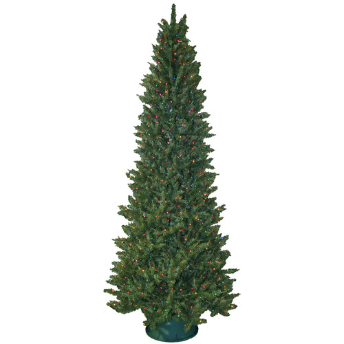 General Foam Plastics 9' Slender Green Spruce Artificial Christmas Tree with 850 Multicolored Lights