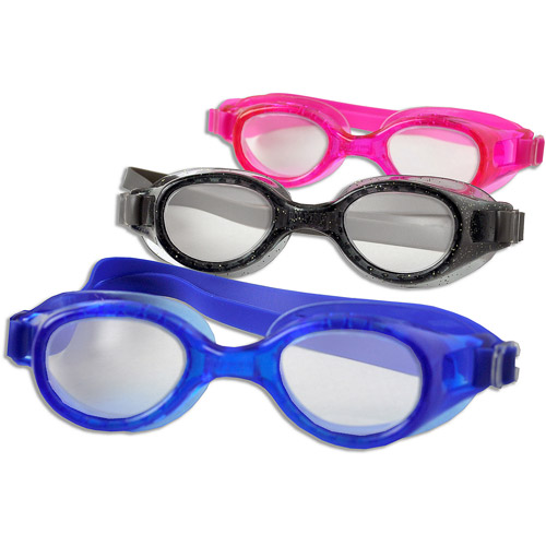 Youth Goggles, 3 Pack, Pink, Smoke and Blue