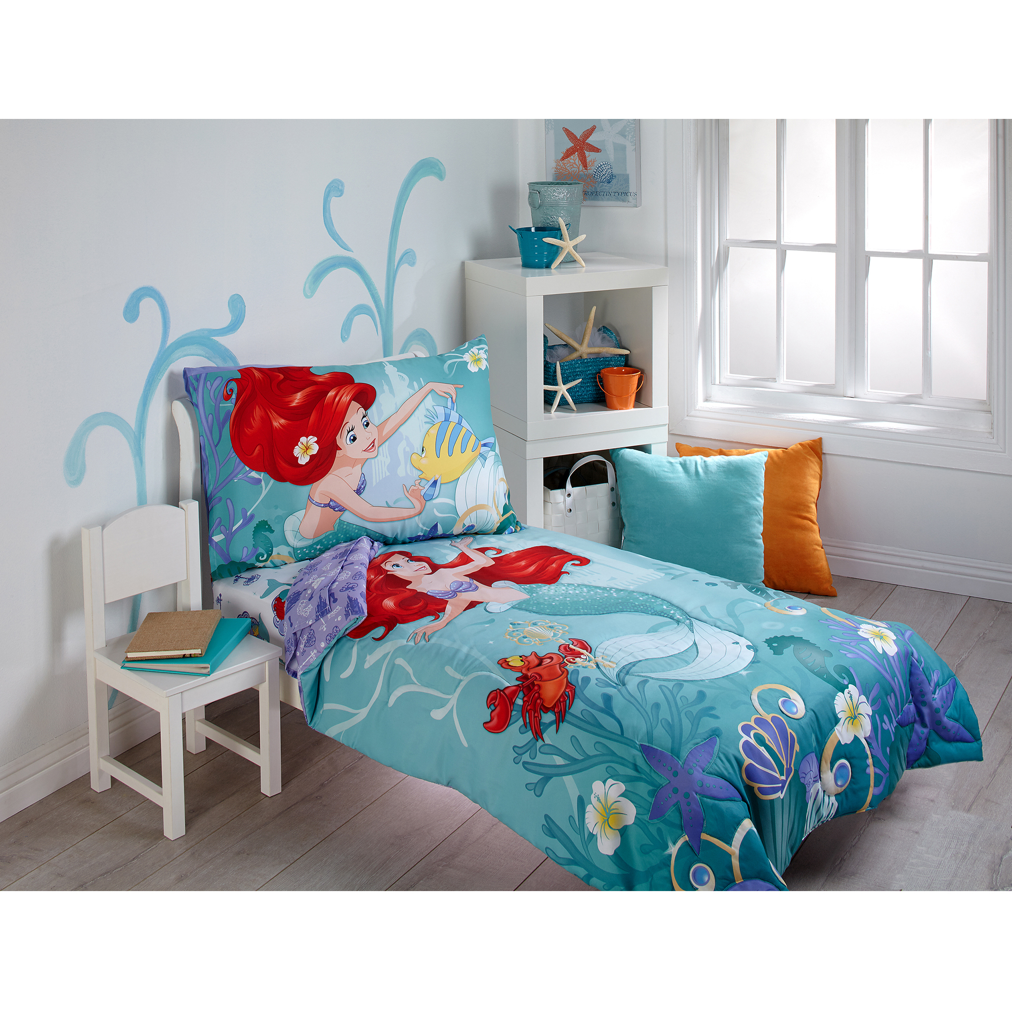 Disney Ariel Key To The Sea 4 Piece Toddler Bedding Set