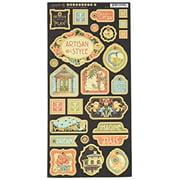 Artisan Style Chipboard Die-Cuts 6 Inch X 12 Inch Sheet-Decorative