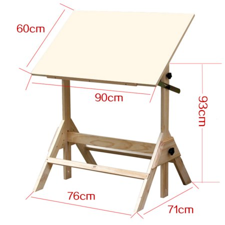 Admirable Ktaxon Pinewood Artist Drawing Table Drafting Table Desk Sketching Painting Drawing Board Studio Art Craft Station Wood Height Adjustable Download Free Architecture Designs Lukepmadebymaigaardcom