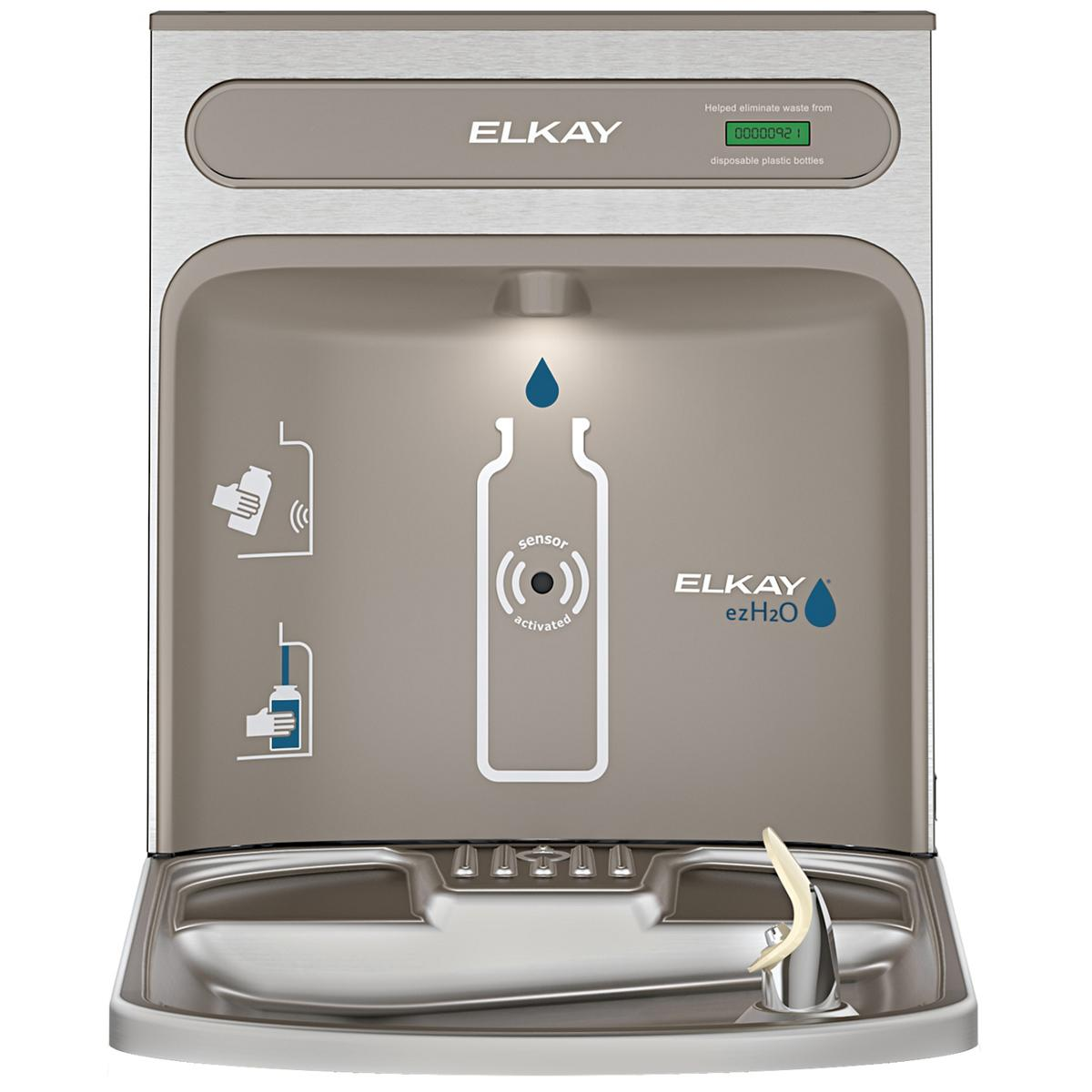 Elkay EZH2O RetroFit Bottle Filling Station Kit, Non-Filtered Non-Refrigerated Stainless Steel