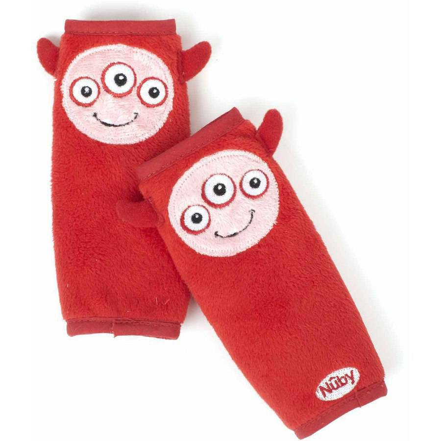 Nuby Monster Strap Covers, Red