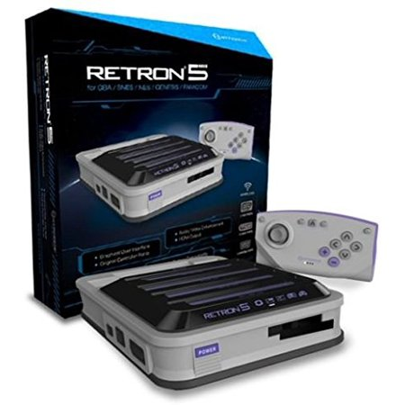Grey Systems - Hyperkin RetroN 5 Retro Video Gaming System Console - Gray - Newest Edition