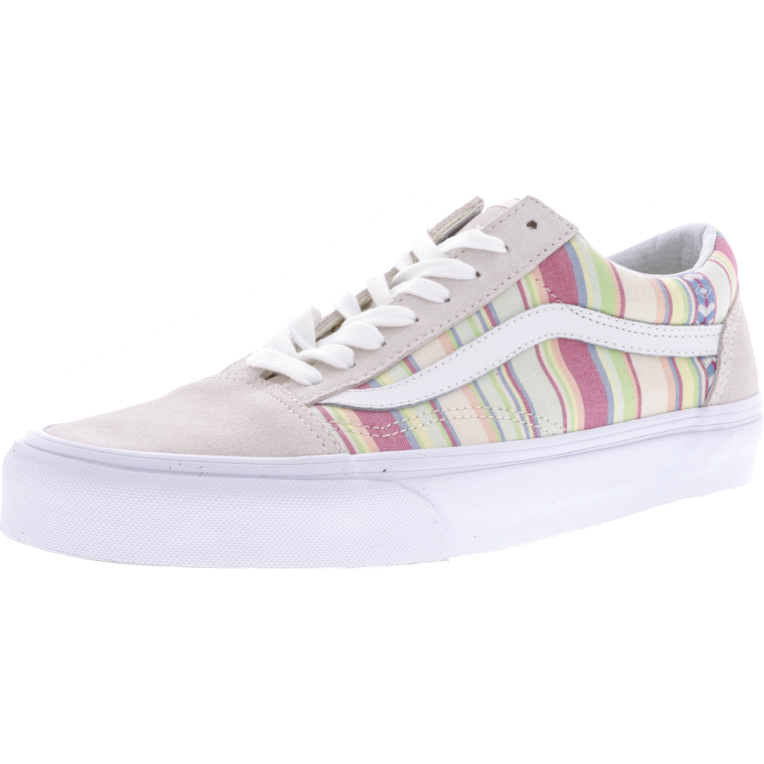 Old Skool Chambray Stripes Ankle-High Canvas Skateboarding Shoe
