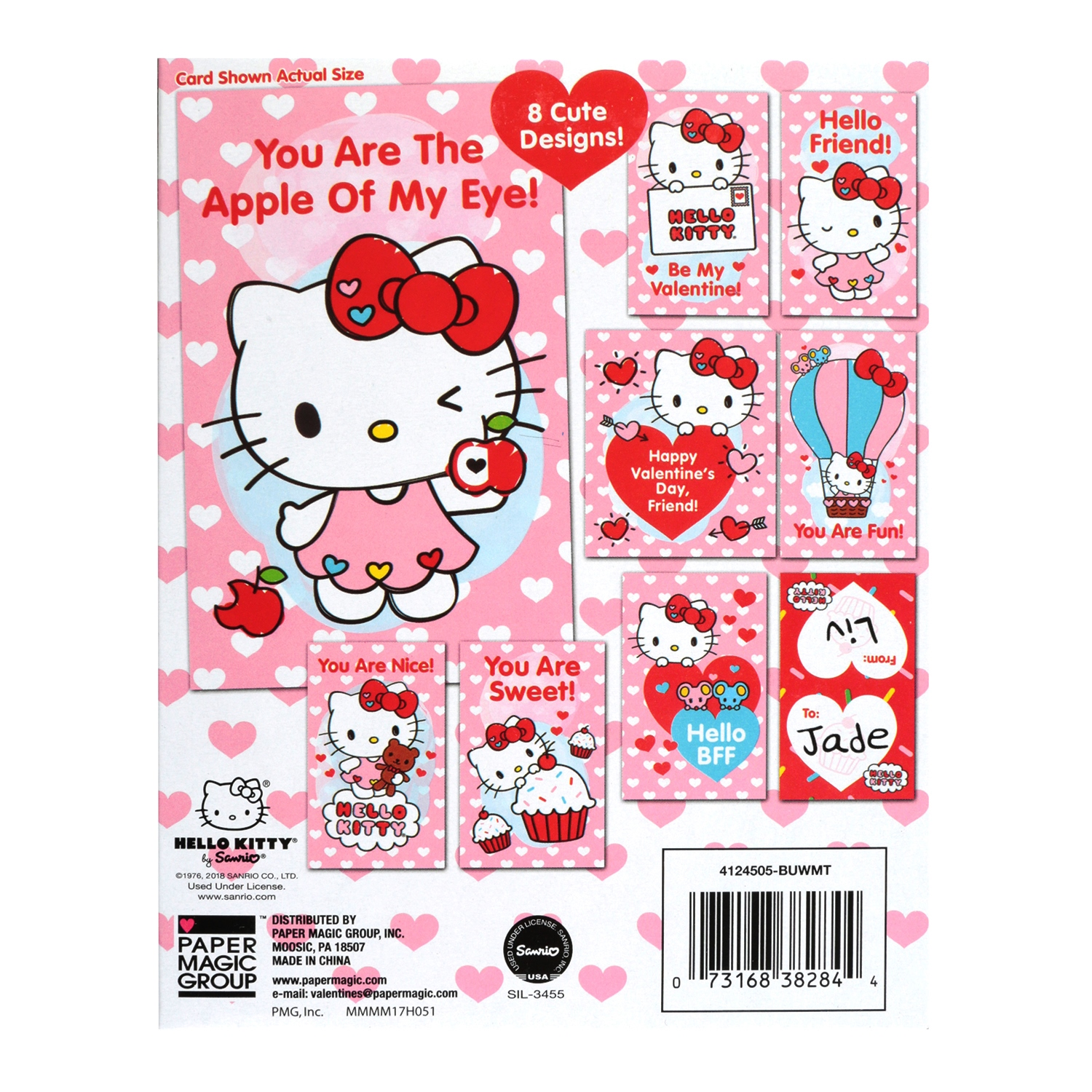 32ct hello kitty valentine cards walmart m4hsunfo Gallery