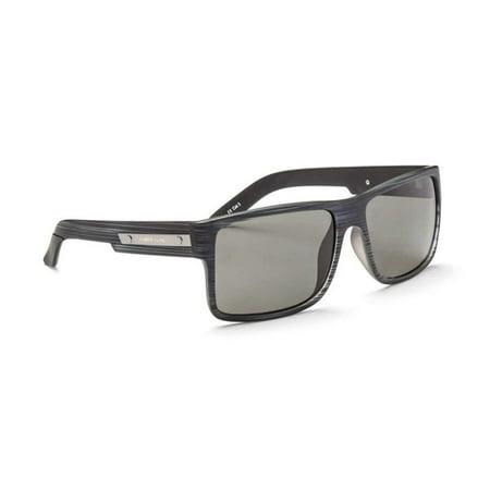 Optic Nerve Kincaid Sunglasses, Matte Driftwood Grey/Polarized Grey (Grey Optic)