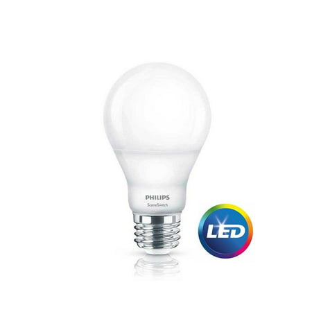 Philips SceneSwitch LED Light Bulb, A19, Daylight/Soft White with Warm Glow, 60 WE](Glow In The Dark Light Bulb)