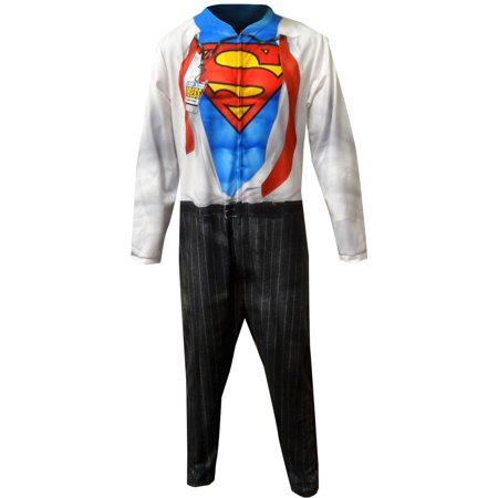 dc comics superman clark kent men's cosplay union suit