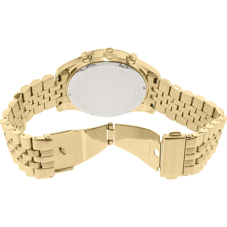 5401ceebbaa5 Michael Kors - Men s Lexington Gold Tone Steel Chronograph Watch MK8446 -  Walmart.com