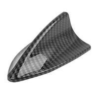 Universal Auto Car Decoration Antenna Shark Fin Shaped Carbon Fiber Pattern 6cm Height