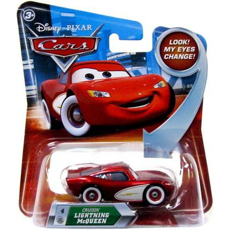 Disney Cars Lenticular Eyes Series 2 Cruisin' Lightning McQueen Diecast Car](Lightning Mcqueen Cars 2)