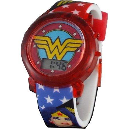 DC Comics Wonder Woman Logo Light Up Strap Watch