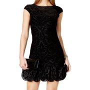 jessica simpson new black women's size 4 sheath floral lace dress