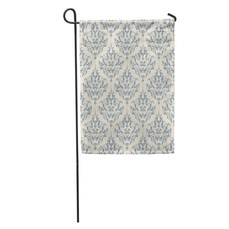 KDAGR Classic Damask Pattern Vintage Ornamental Victorian Abstract Anniversary Antique Baroque Garden Flag Decorative Flag House Banner 28x40 inch