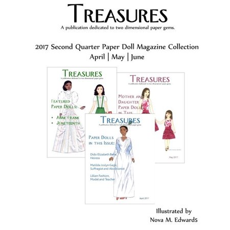 Treasures 2017 Second Quarter Paper Doll Magazine Collection: April-May-June
