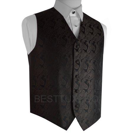 Italian Design, Men's Formal Tuxedo Vest for Prom, Wedding, Cruise , in Chocolate