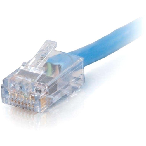 C2g 25Ft Cat6 Non-Booted Network Patch Cable (Plenum-Rated) - Blue